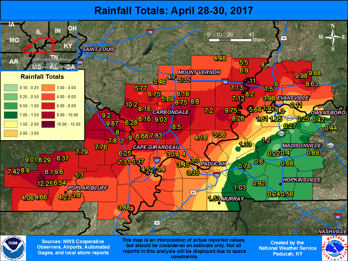 Summary Of Heavy Rainfall Event And Moderate To Record Flooding On Court Records Check Franklin County Illinois Circuit Image
