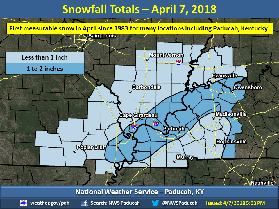 rare april snow strikes the quad state region rare april snow strikes the quad state