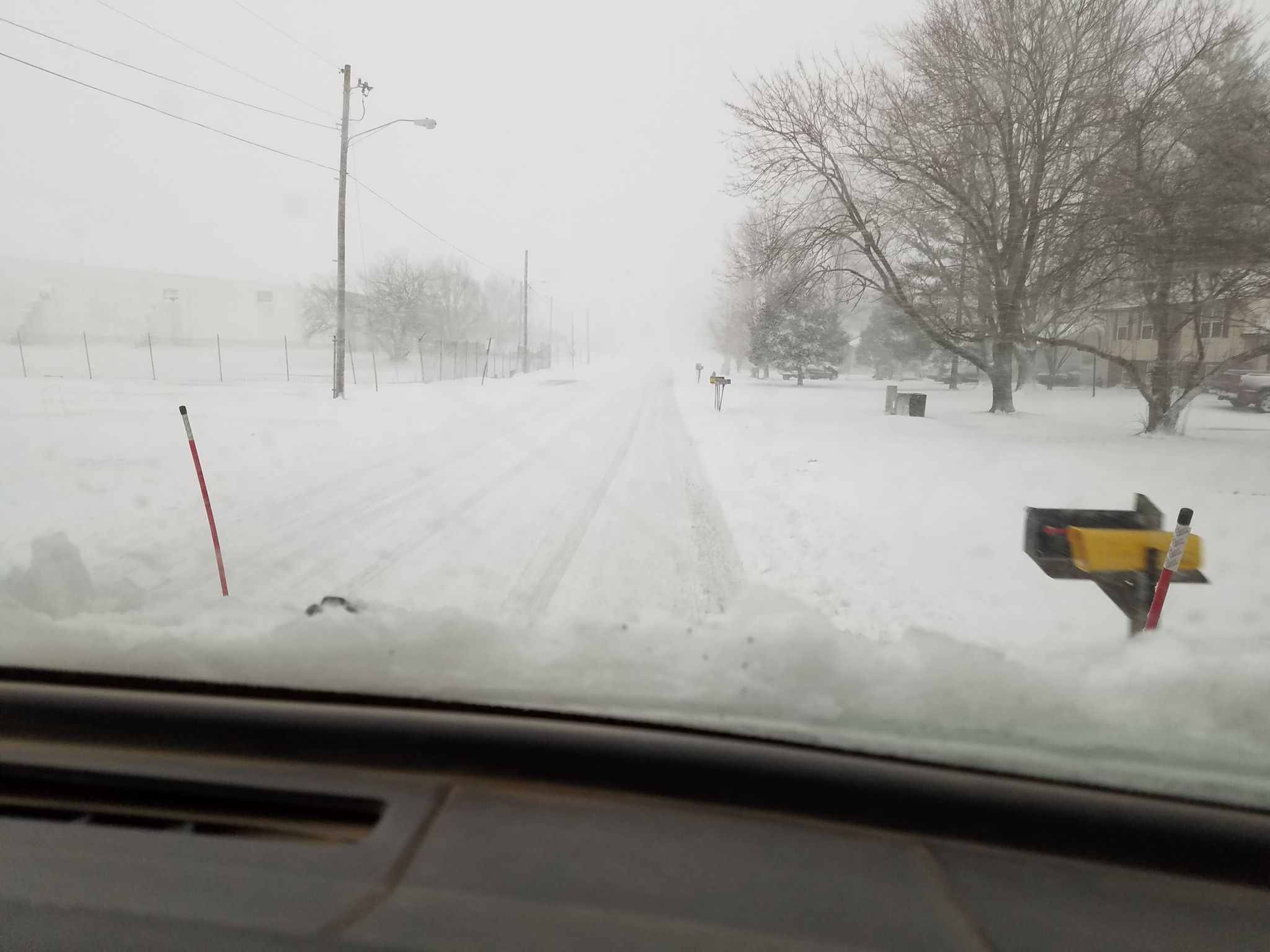 Summary of snow event on January 19, 2019