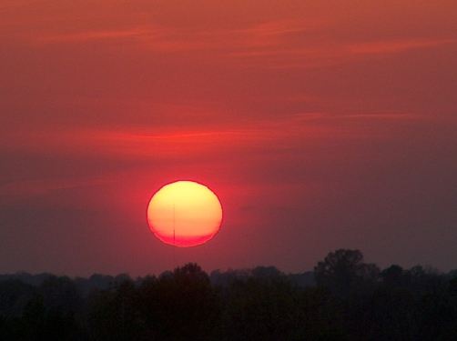 Photo of sunset near Richmond, KY in 2005