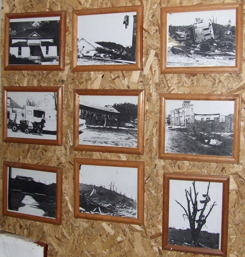 Pictures in the basement of the church