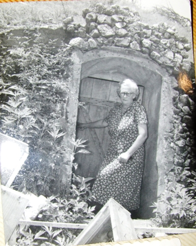 Gertrude Greene and her cellar
