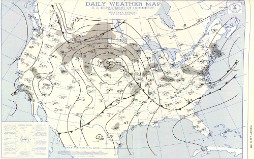 Surface Map 130am 5/21/57