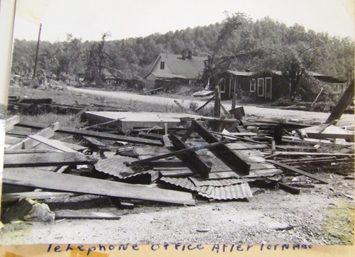 Telephone office after tornado