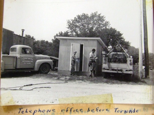 Telephone office before tornado