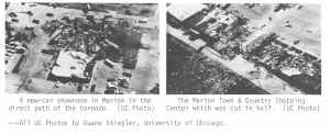 Damage photos from the Marion tornado taken from the May 1982 Storm Data report.