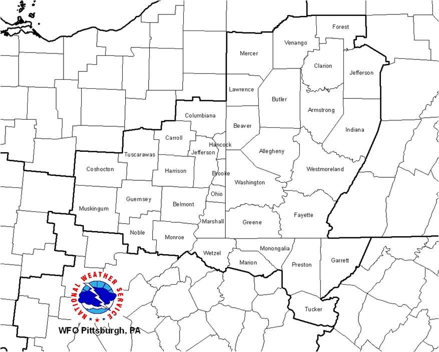 Map Of Ohio West Virginia And Pennsylvania.Nws Pittsburgh On Line Tour Of The Office Overview