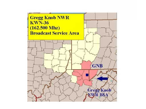 KWN-36 (162.500 MHz) coverage map