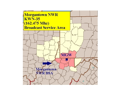 KWN-35 (162.475 MHz) coverage map