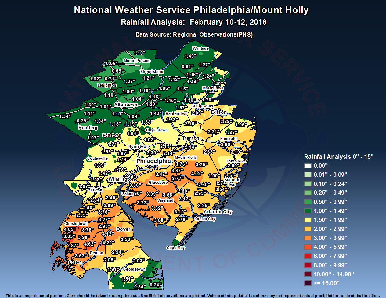 February 10-11, 2018 Heavy Rainfall Event