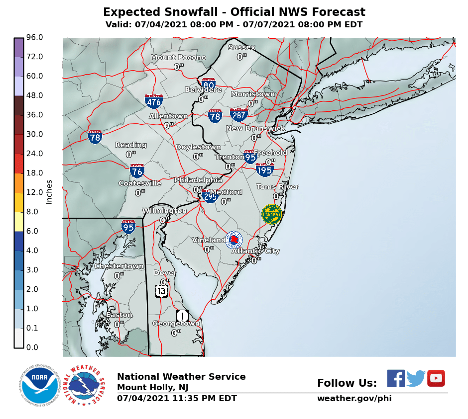 Snow Accumulation Forecast 03052016