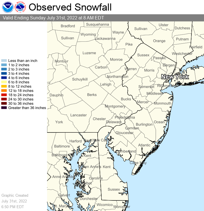 Latest snow map