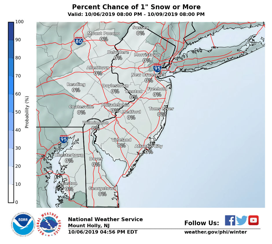 Winter Weather Experimental Probabilistic Snowfall and Ice