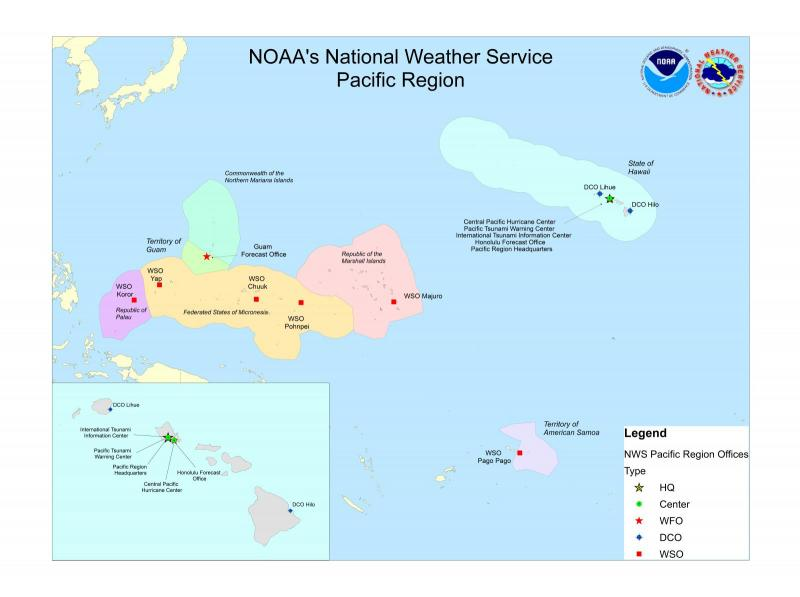 About Pacific Region - Nws us regions map