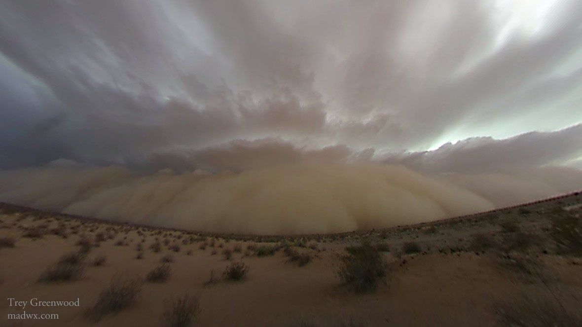 Picture of dust storm, with permission from Trey Greenwood