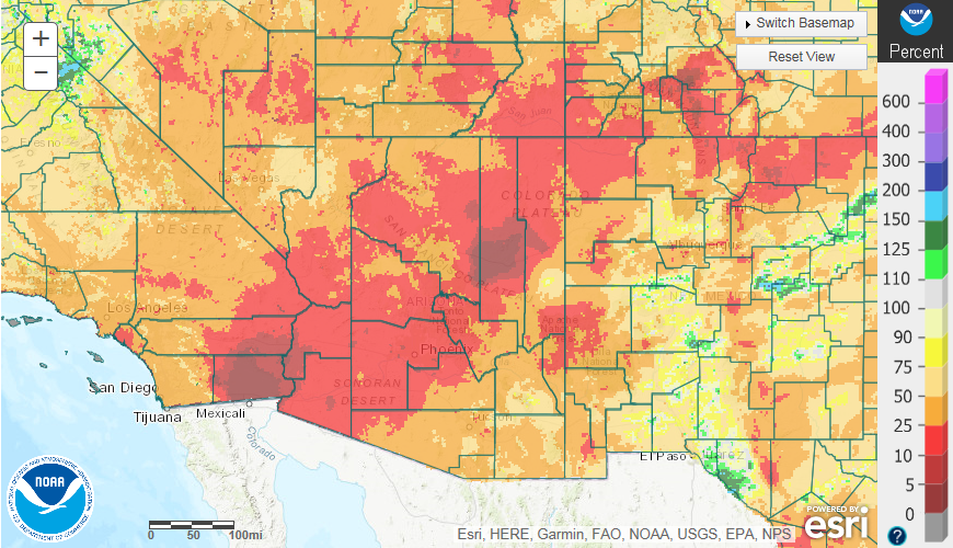 Drought Information for Arizona and Southeast California