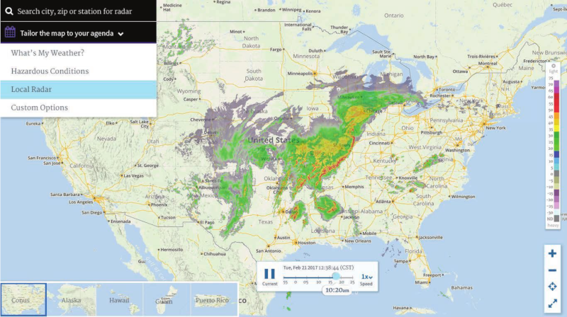 Noaa Radar Weather Map New NWS Radar Web Page and the End of Flash Information