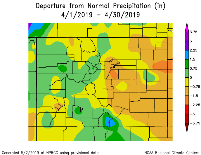 April Climate Review Across Southern Colorado