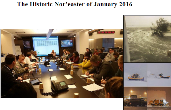historic noreaster of 2016 photos of conference, flooding, plows