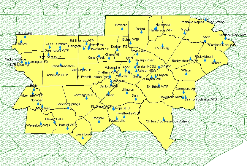 Raleigh Durham Zip Code Map | Time Zones Map