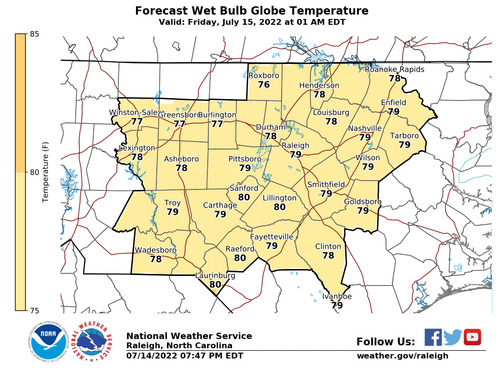 Wet Bulb Globe Temperature Latest Forecasts Us Max Temperature Map