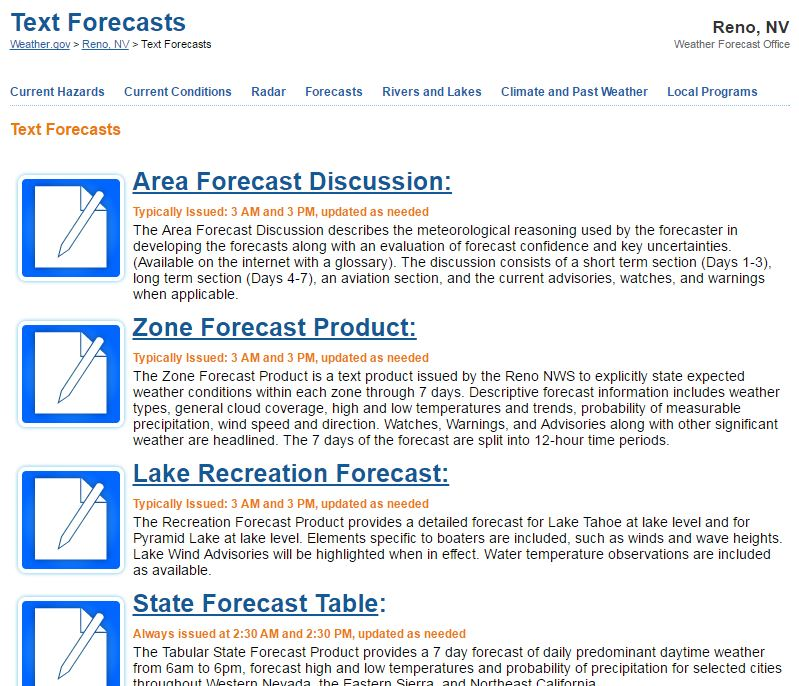 Text Forecasts