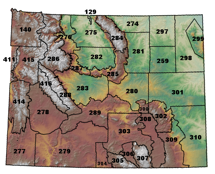 Weather Map Of Wyoming.Fire Weather Information