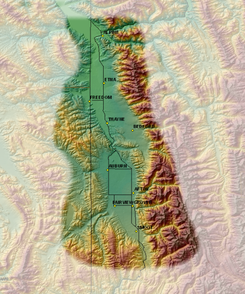 Map of Star Valley NWR Coverage