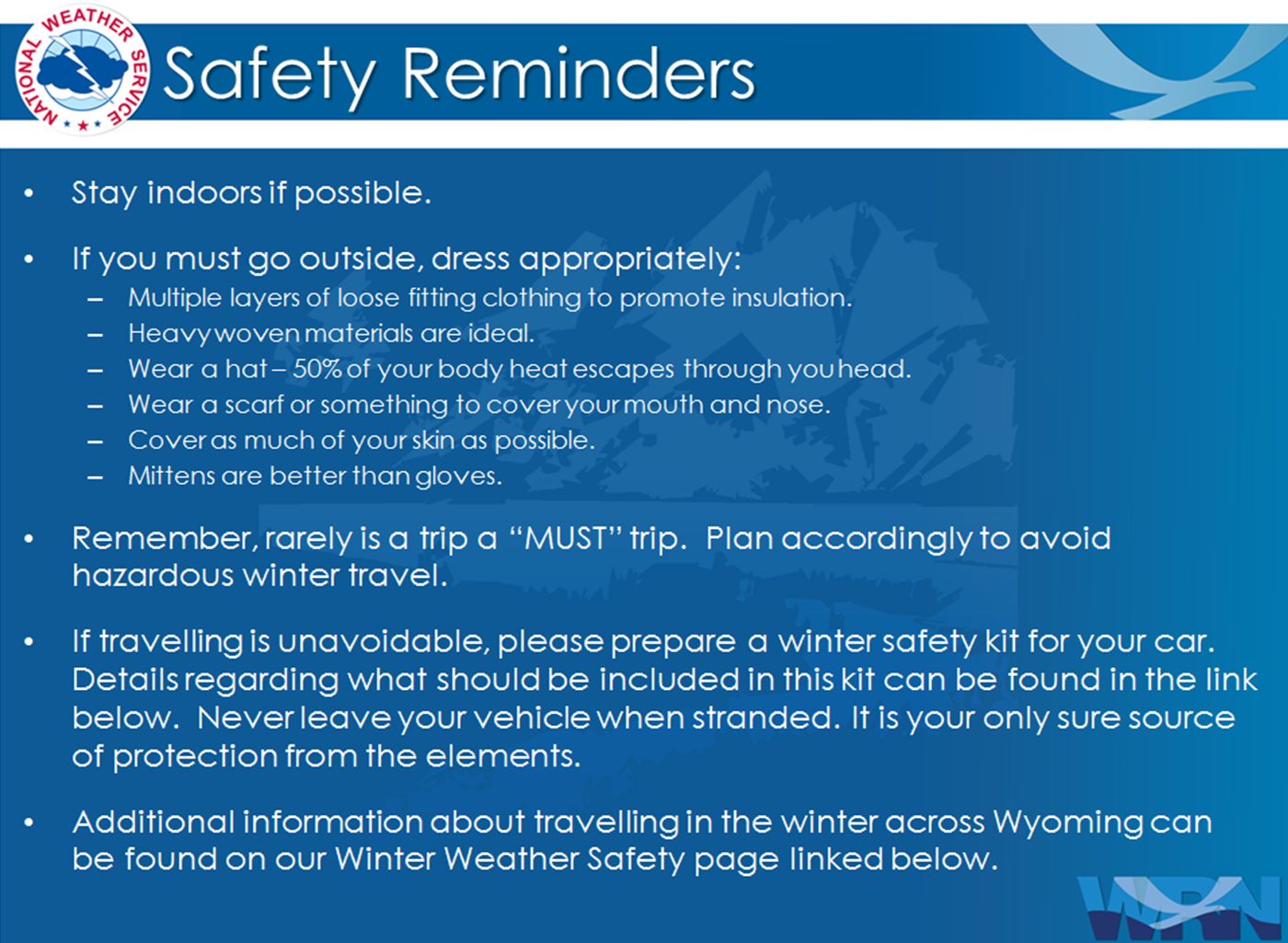 Winter saftey tips