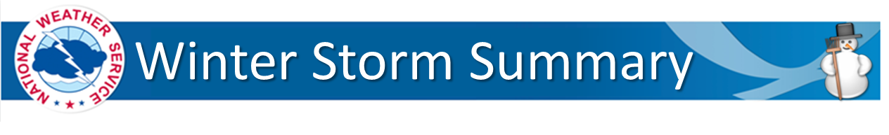 Winter Storm Summary Banner