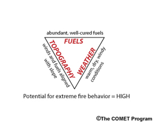 Fire Triangle Diagram