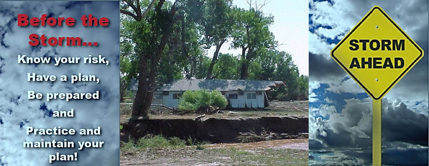 Flood damage in Kaycee, WY, that occured in the early morning hours of August 27, 2002.
