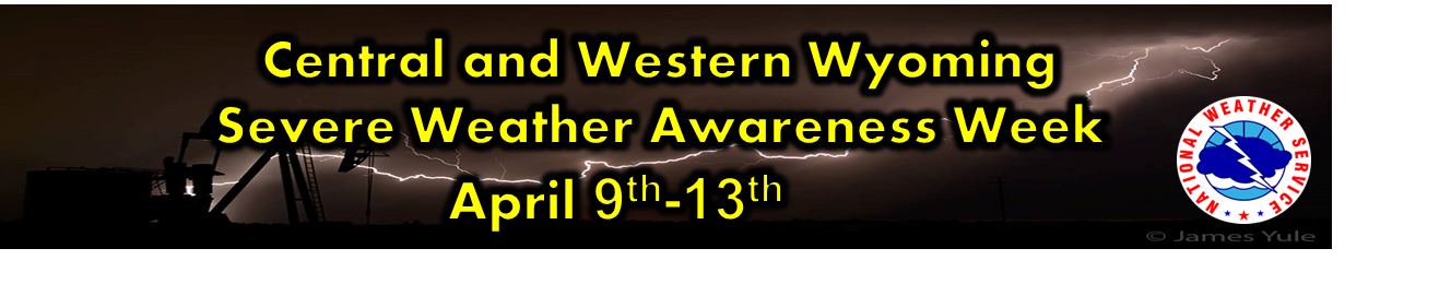 Banner for Severe Weather Awareness Week in Wyoming