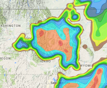 Weather Map Of Wyoming.Western And Central Wyoming Snow And Avalanche Forecasts