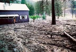 Image of a Debris Flow - Courtesy NRCS