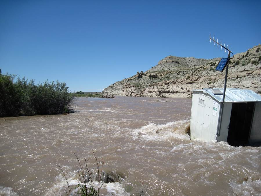 Crowheart gage during Wind River flooding