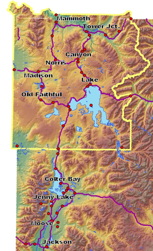Forecasts For Yellowstone And Grand Teton National Parks
