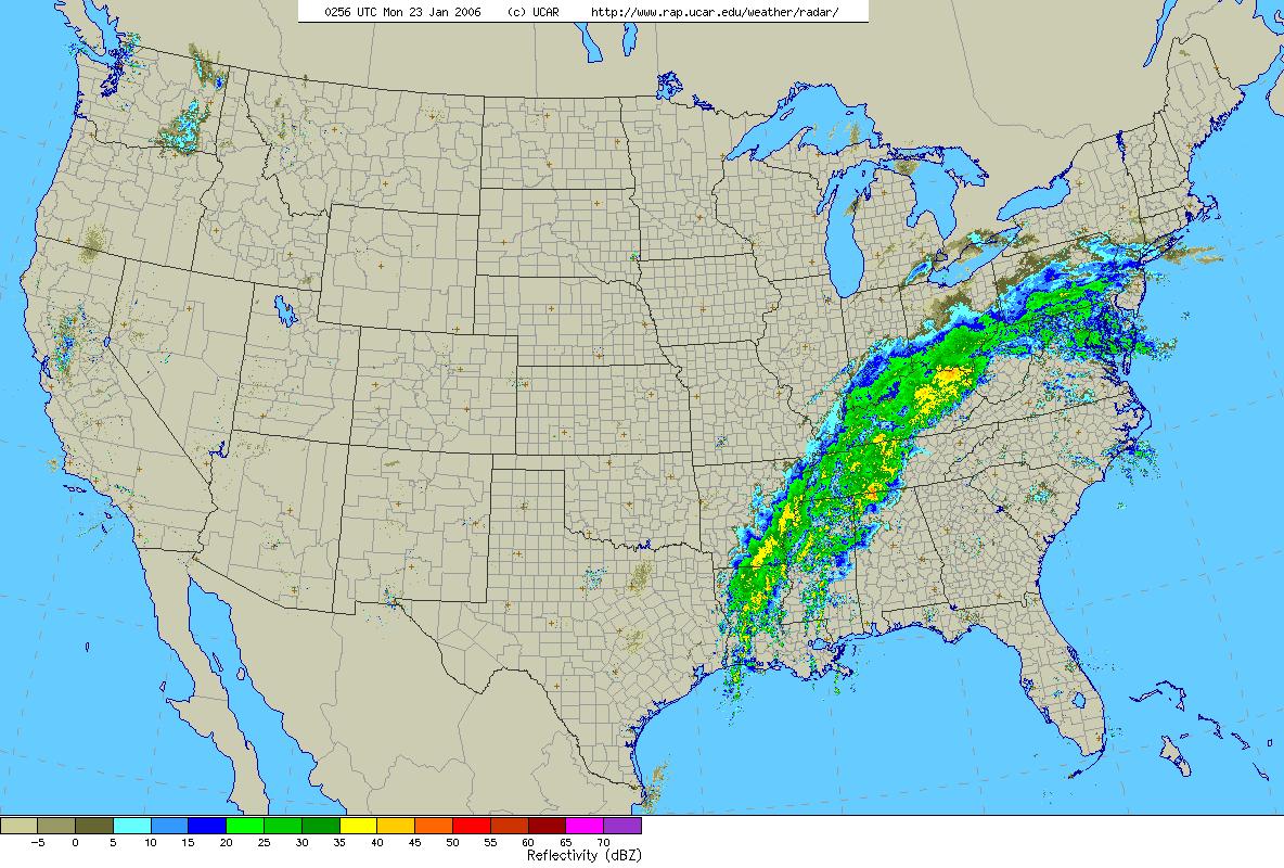Storm Summary Of Heavy Rain In January - Weather radar map southeast us