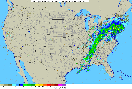 Figure 4- Radar map from 4 AM Monday, January 23, 2006.
