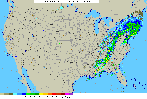 Figure 5-Radar map from 7 AM, Monday, January 23, 2006.