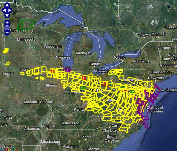 Derecho Event Of June Th - Us weather service map