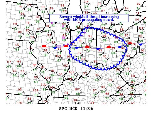 Figure 9. Mesoscale Discussion issued by SPC at 1801Z (1:01pm EDT) 29 June 2012.