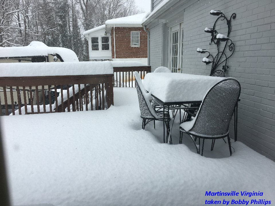 Martinsville VA Snow taken by Bobby Phillips