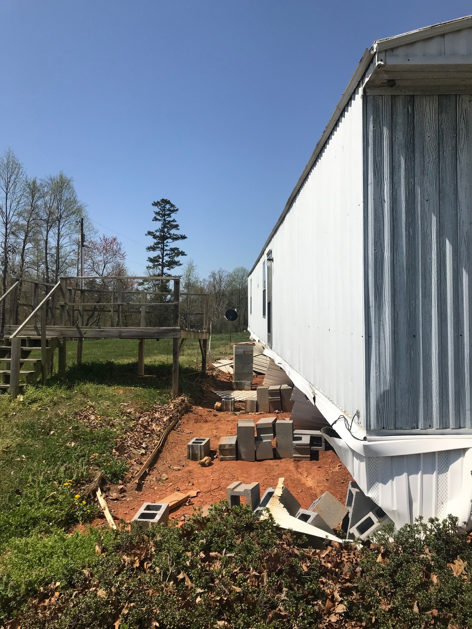 Mobile Home moved off foundation