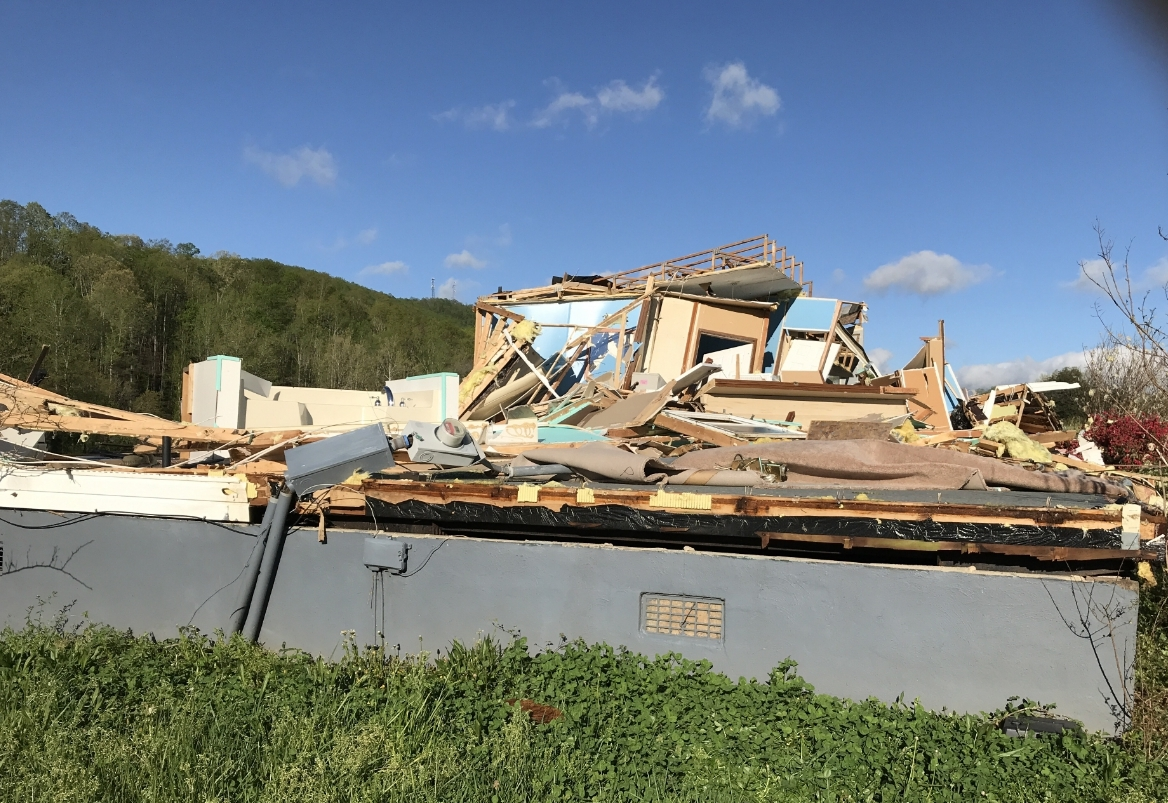 Fishburn Mountain Road home destroyed
