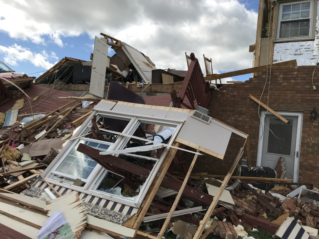 Windy Ridge Road Home Destroyed