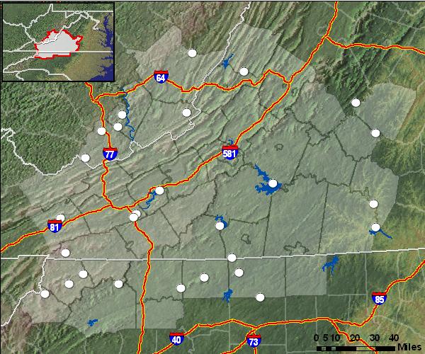 Clickable Recreation Forecast Map