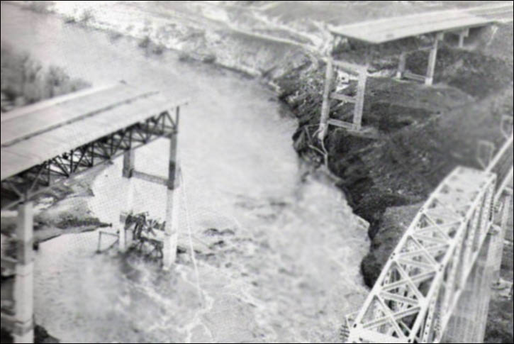 Hwy 30 Bridge destroyed over John Day River (Portland Public Works)