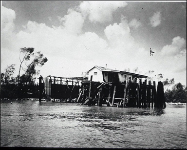 Damaged U.S. Quarantine Station in New Orleans. Source: U.S. National Library of Medicine website.