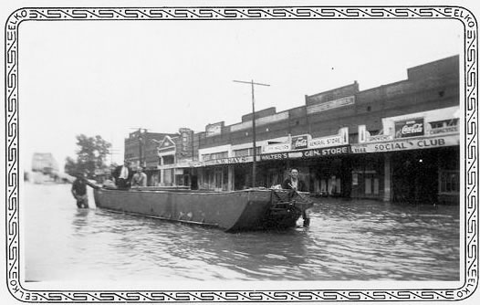 Arkansas River when it flooded Webbers Falls in 1943. Picture posted by Shirley Walters Bryant on July 06
